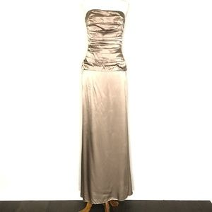 Nicole Miller NYC Gray Strapless Gown Prom Dress